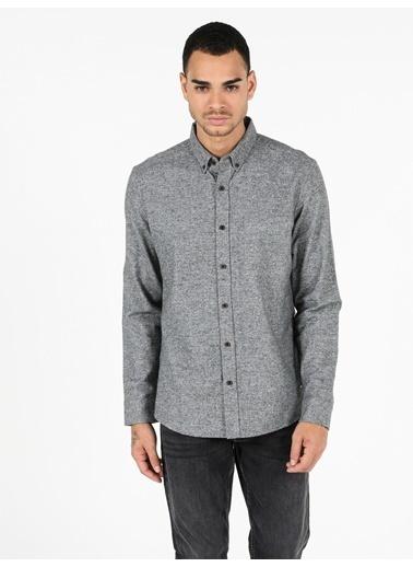 Colin's Slim Fit Shirt Neck Erkek Haki Uzun Kol Gömlek Haki